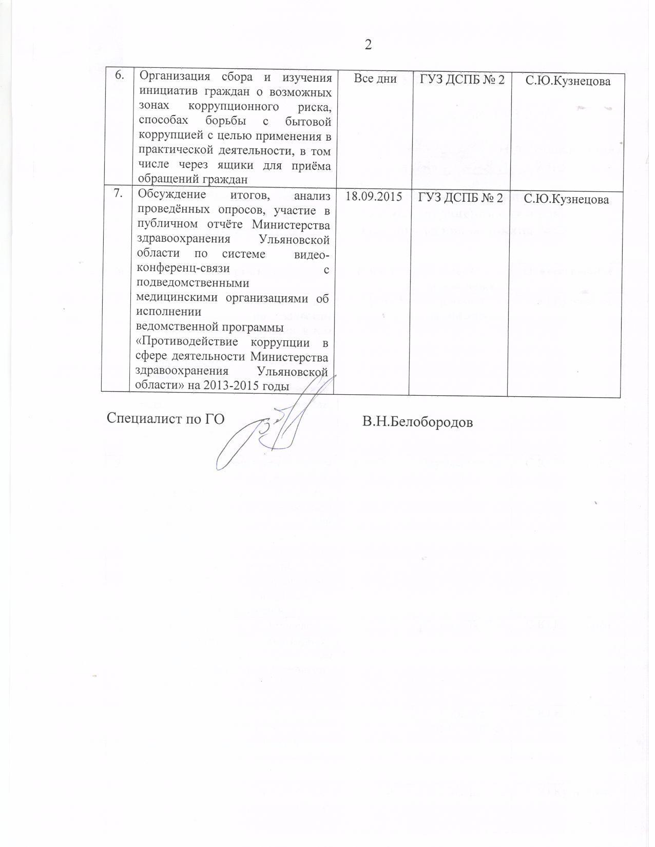 План проведения Недели антикоррупционных инициатив 001