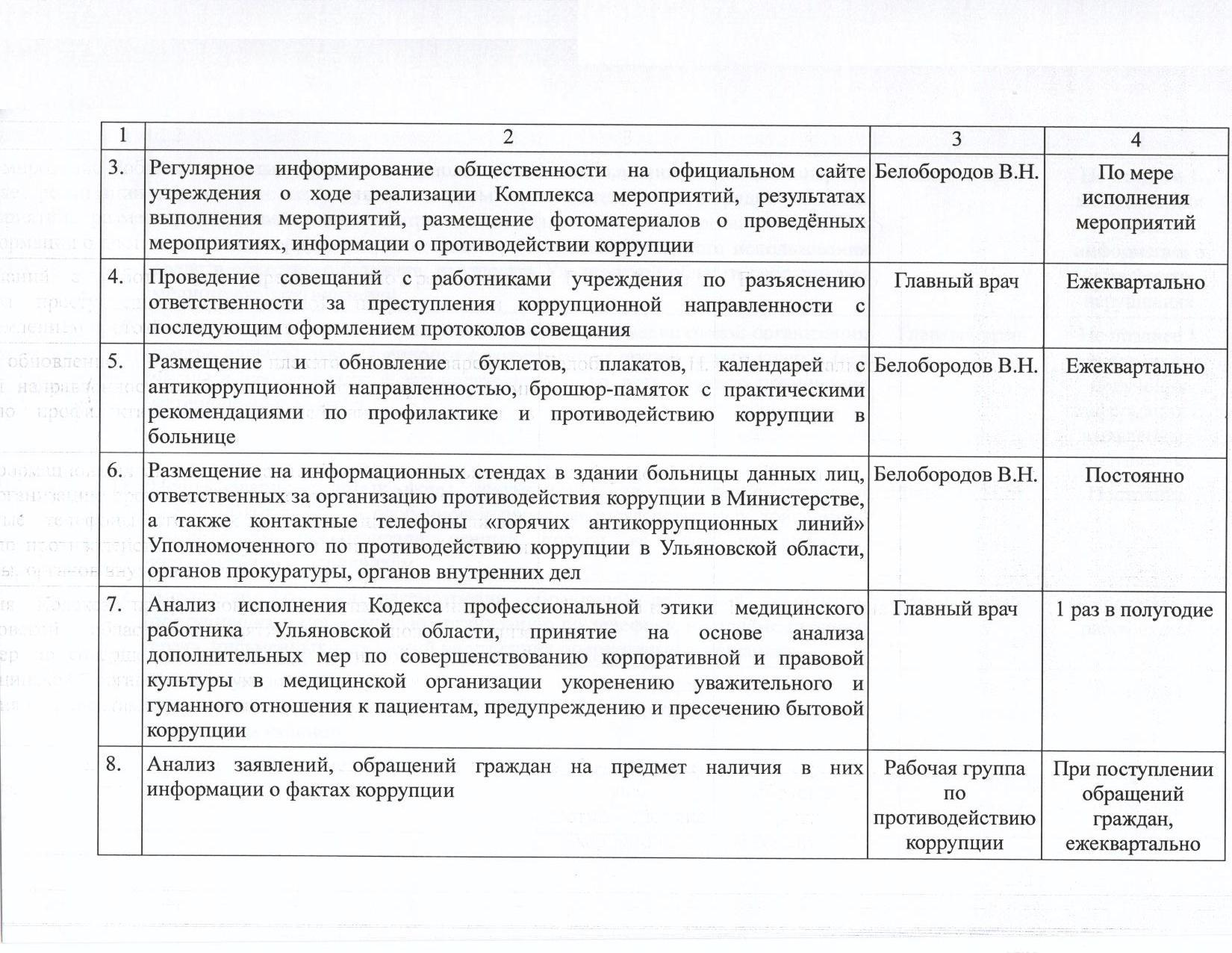 План работы по противодействию коррупции на 2018 год 001